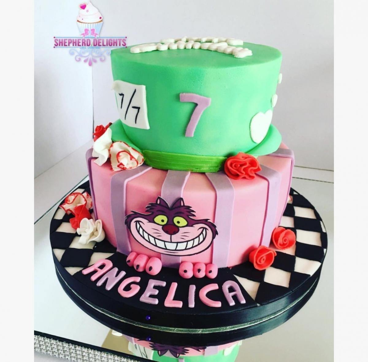 Surprising Alice In Wonderland Birthday Cake Birthday Cakes Cakes For Funny Birthday Cards Online Alyptdamsfinfo