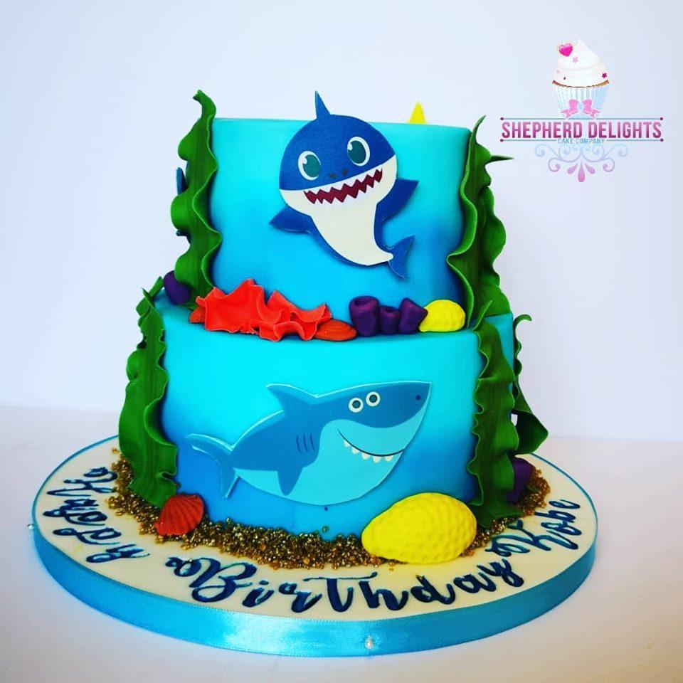 Outstanding Baby Shark Birthday Cake Birthday Cakes Funny Birthday Cards Online Fluifree Goldxyz