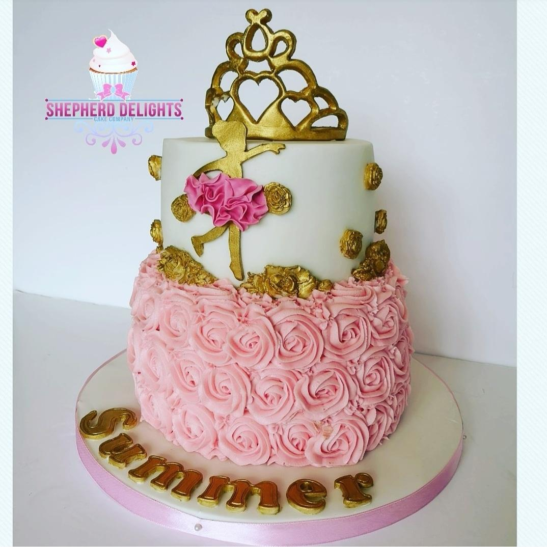 Excellent Ballerina Tiara Birthday Cake Birthday Cakes Cakes For Children Personalised Birthday Cards Paralily Jamesorg
