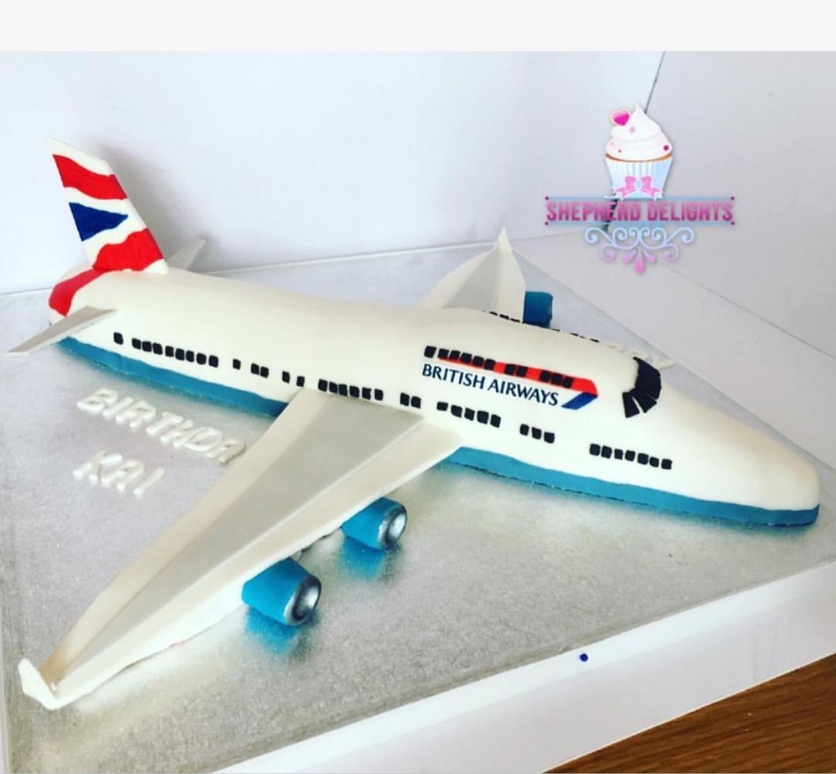 Excellent Plane Birthday Cake British Airways Birthday Cake Teenage Funny Birthday Cards Online Barepcheapnameinfo