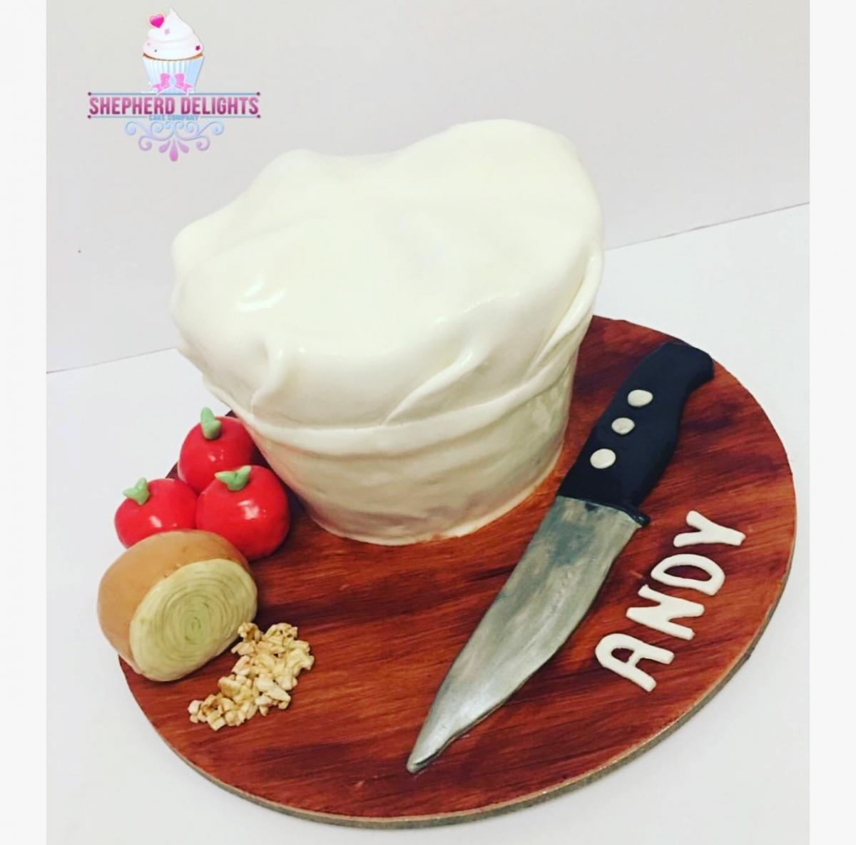 Chefs Hat Birthday Cake
