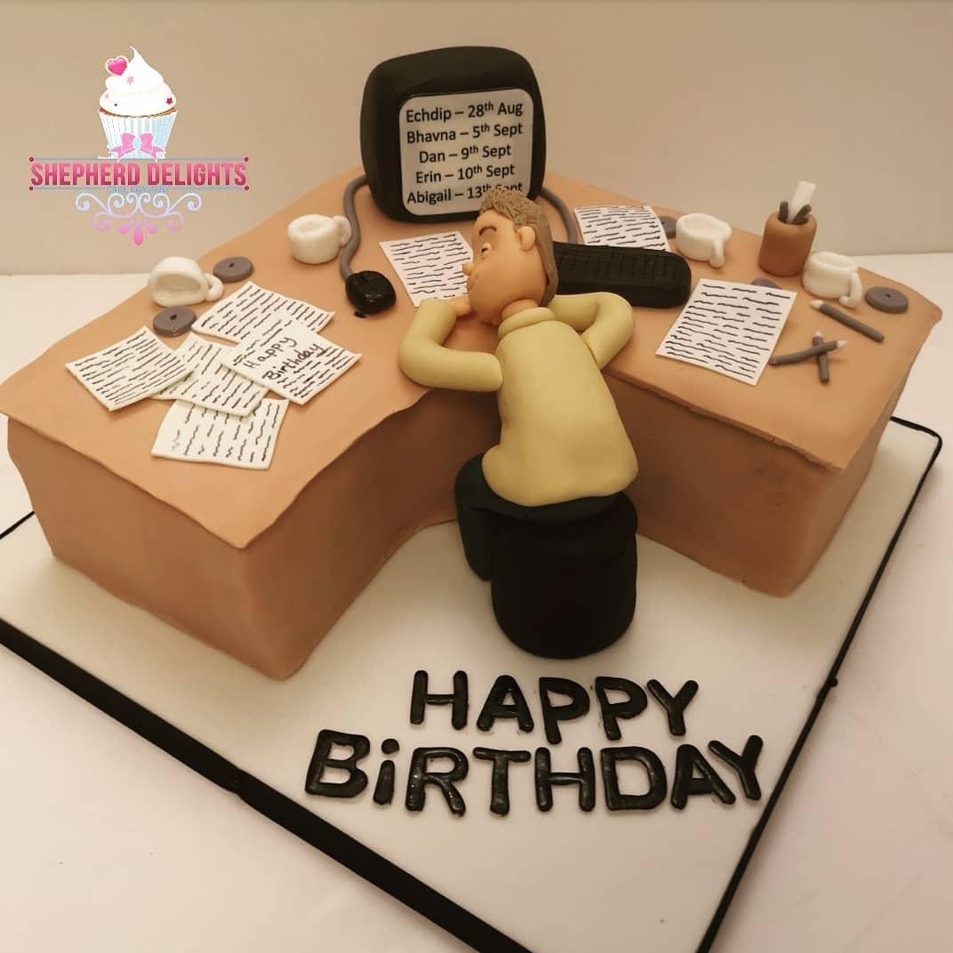 Wondrous Computer Desk Novelty Cake Novelty Cakes Funny Birthday Cards Online Amentibdeldamsfinfo