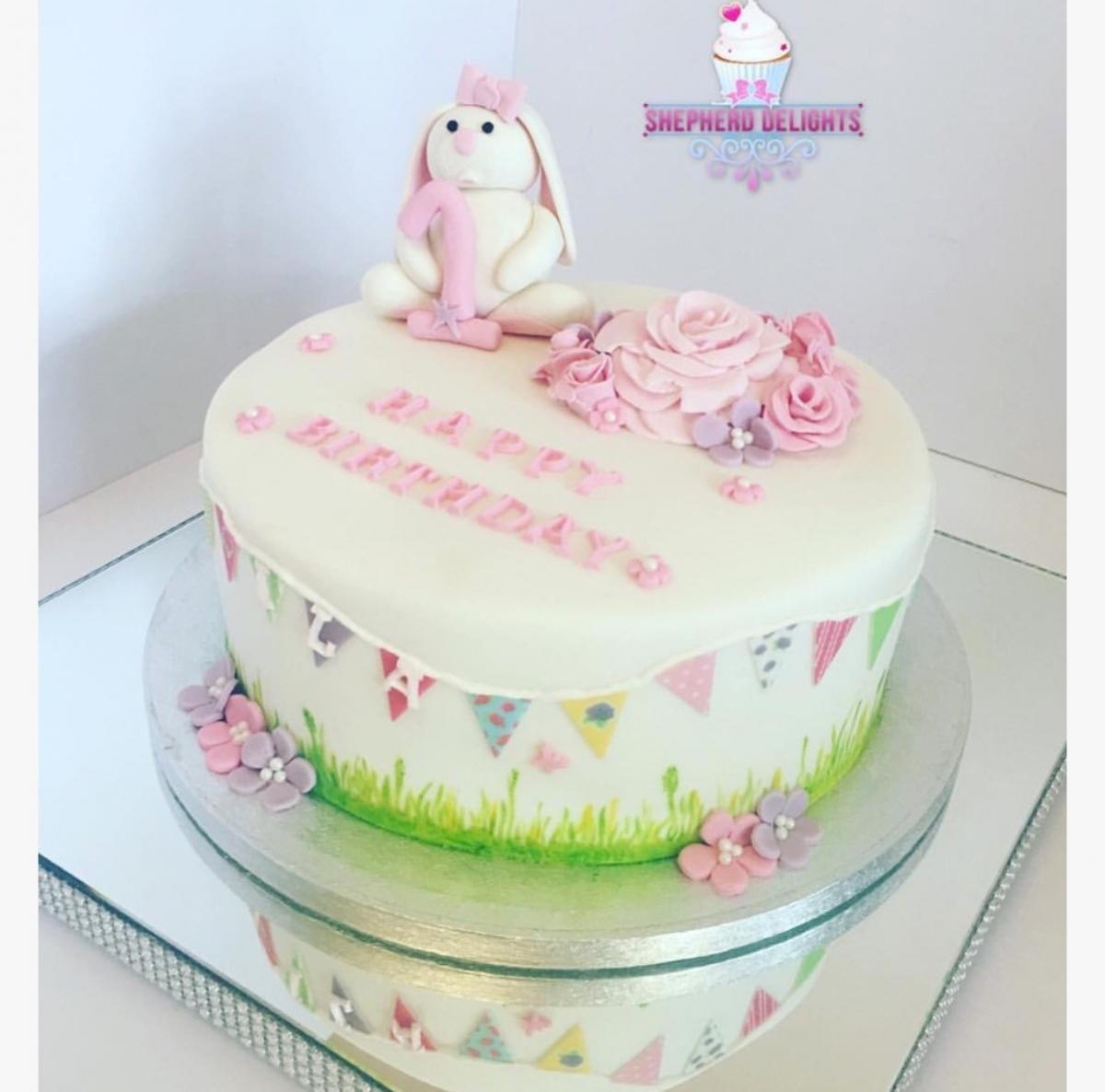 Terrific Rabbit Birthday Cake Birthday Cakes Cakes For Children Personalised Birthday Cards Veneteletsinfo