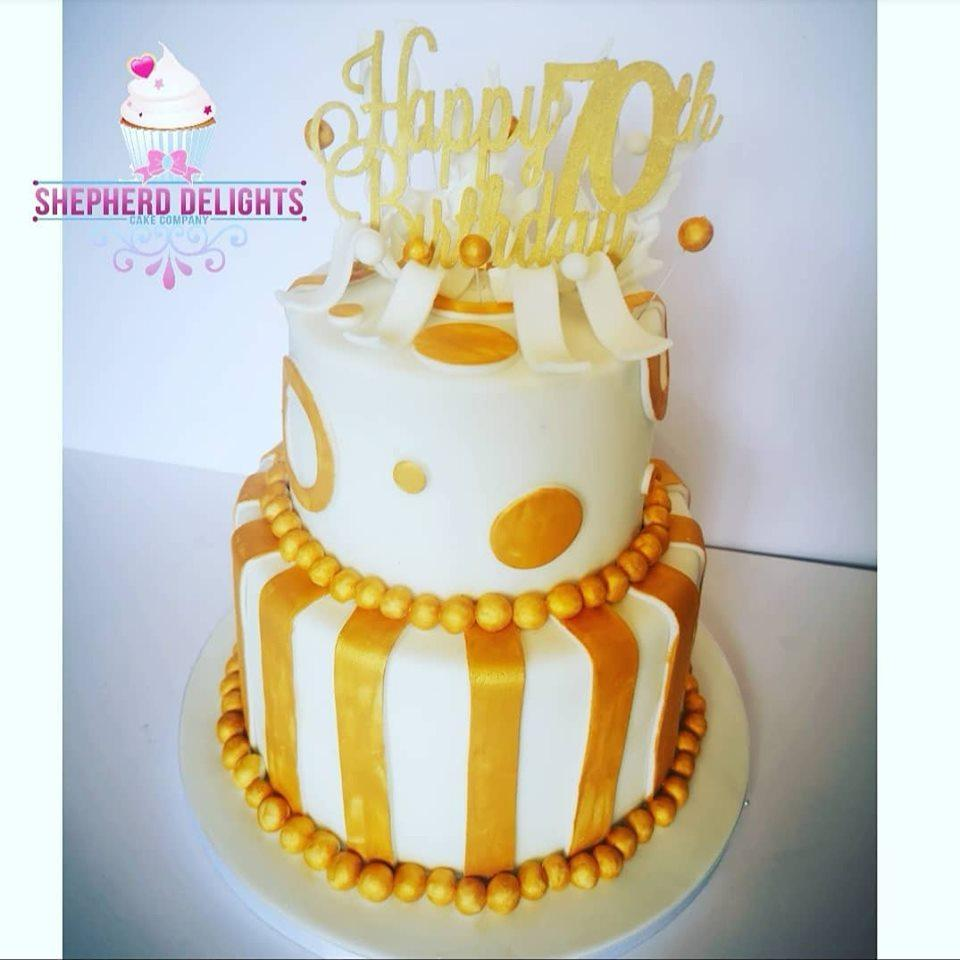 Marvelous Golden Birthday Cake Birthday Cakes Cakes For Teens Adults Funny Birthday Cards Online Alyptdamsfinfo