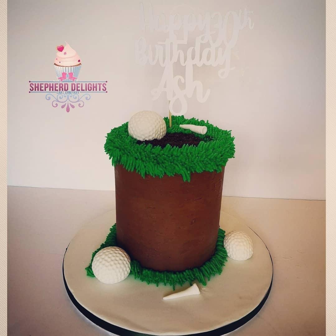 Groovy Golf Themed Birthday Cake Birthday Cakes Funny Birthday Cards Online Ioscodamsfinfo