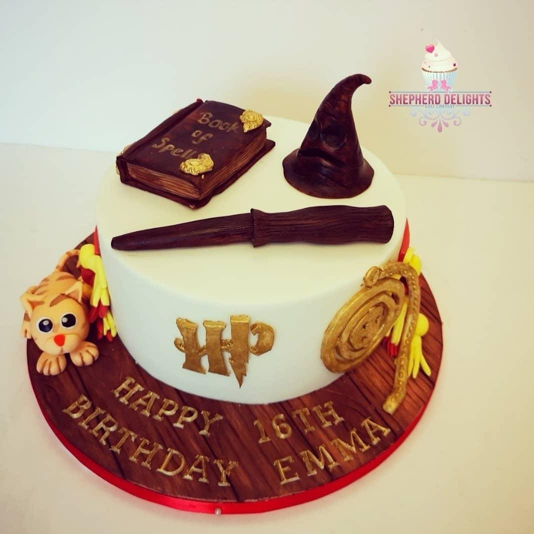 Enjoyable Harry Potter Themed Birthday Cake Birthday Cakes Personalised Birthday Cards Paralily Jamesorg