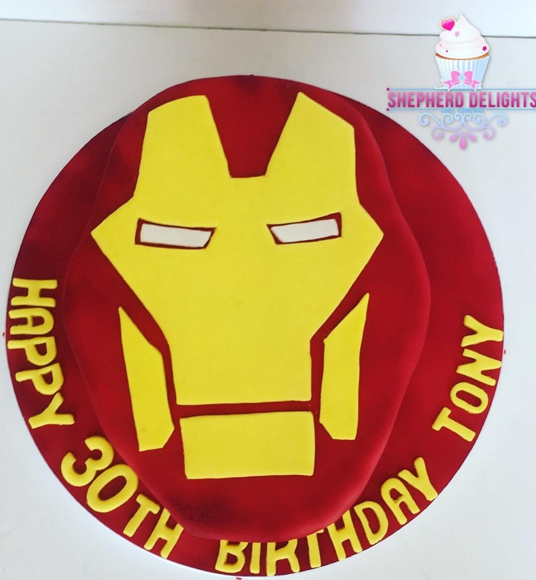 Iron Man Birthday Cake Teenage Adult Cakes Themed For Adults
