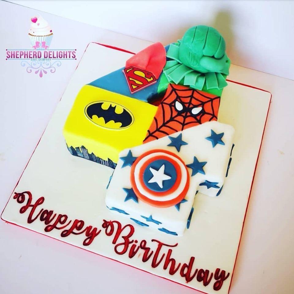 Phenomenal Marvel Number Cake Birthday Cakes Funny Birthday Cards Online Elaedamsfinfo