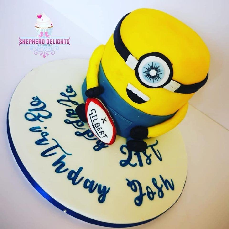 Magnificent Minion Birthday Cake Birthday Cakes Cakes For Children Funny Birthday Cards Online Eattedamsfinfo