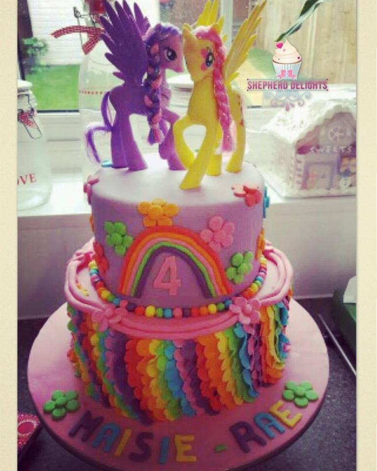 Admirable My Little Pony Birthday Cake Birthday Cakes Cakes For Children Personalised Birthday Cards Paralily Jamesorg