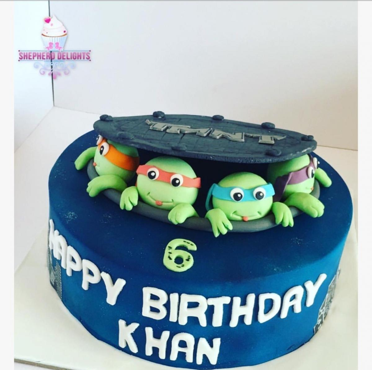 Superb Ninja Turtle Birthday Cake Birthday Cakes Cakes For Children Funny Birthday Cards Online Fluifree Goldxyz