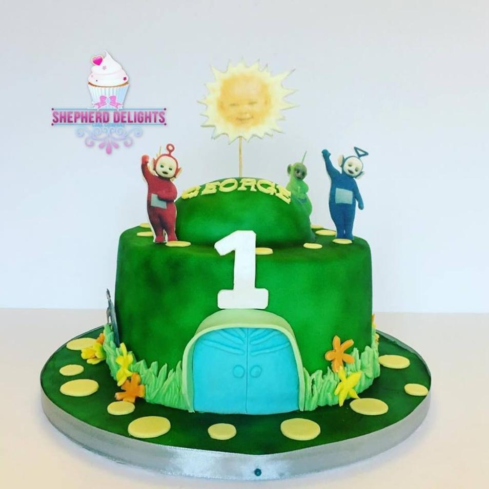 Astonishing Teletubbies Birthday Cake Teletubbie Cake Figures Birthday Cards Printable Nowaargucafe Filternl