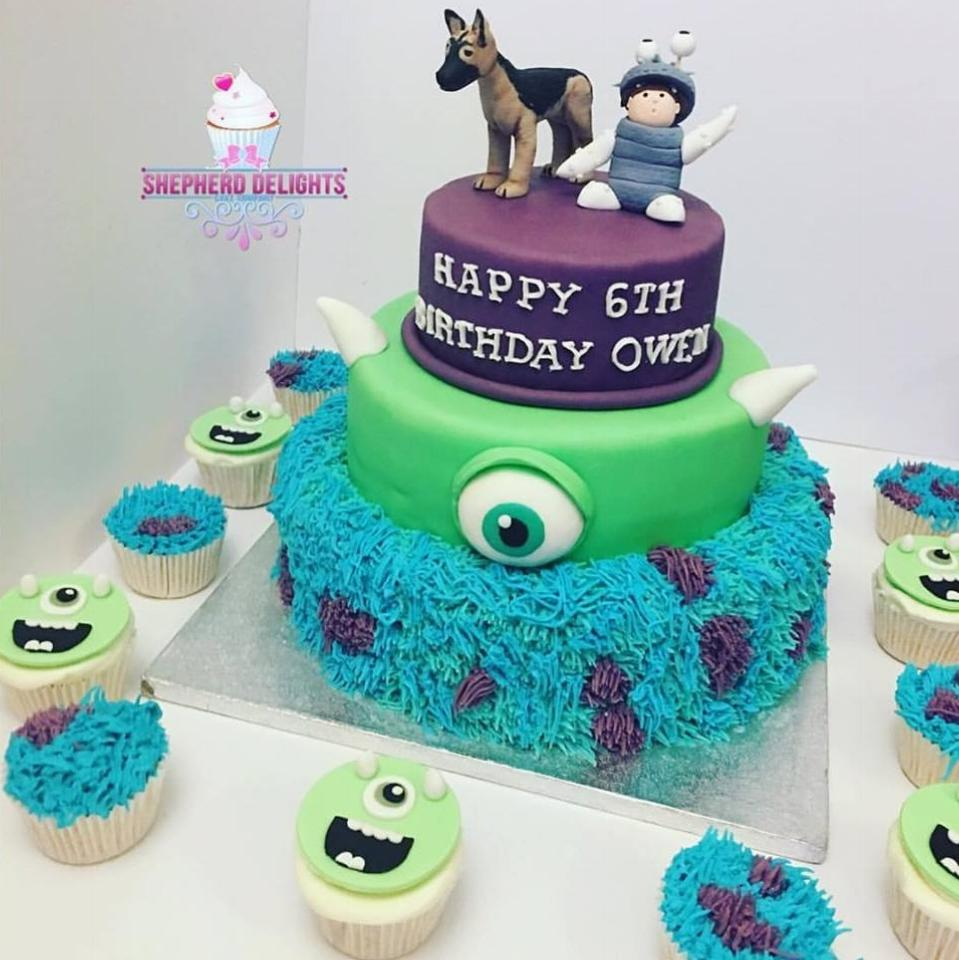 Terrific Monsters Inc Cake Monsters Inc Birthday Cake Novelty Cake Personalised Birthday Cards Veneteletsinfo