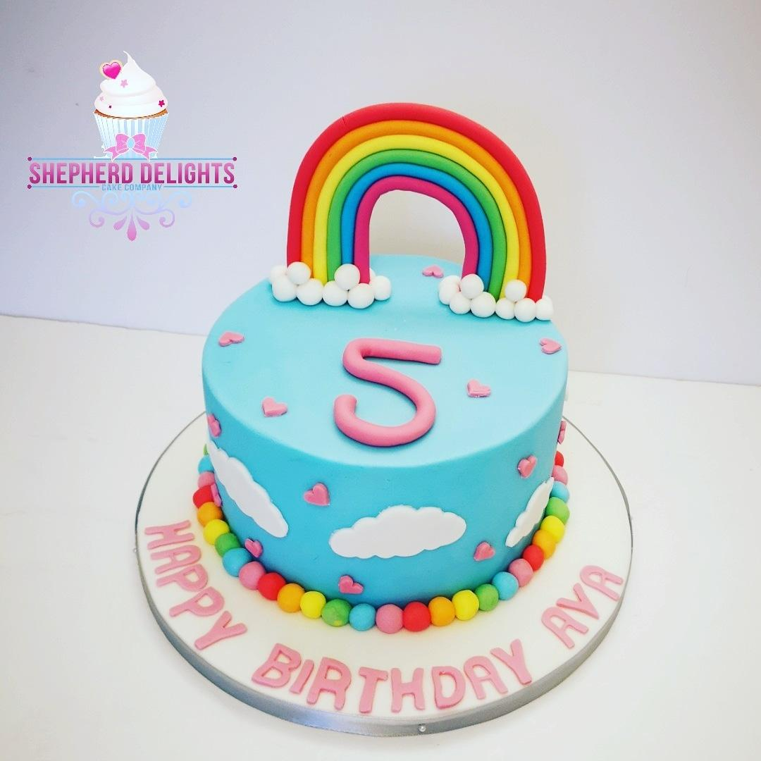 Marvelous Over The Rainbow Birthday Cake Birthday Cakes Cakes For Children Funny Birthday Cards Online Elaedamsfinfo
