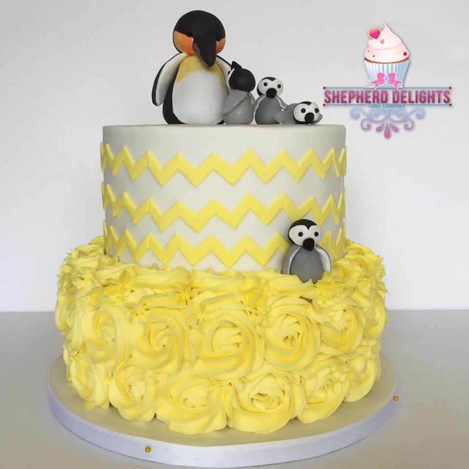 Penguin Baby Shower Cake » More »