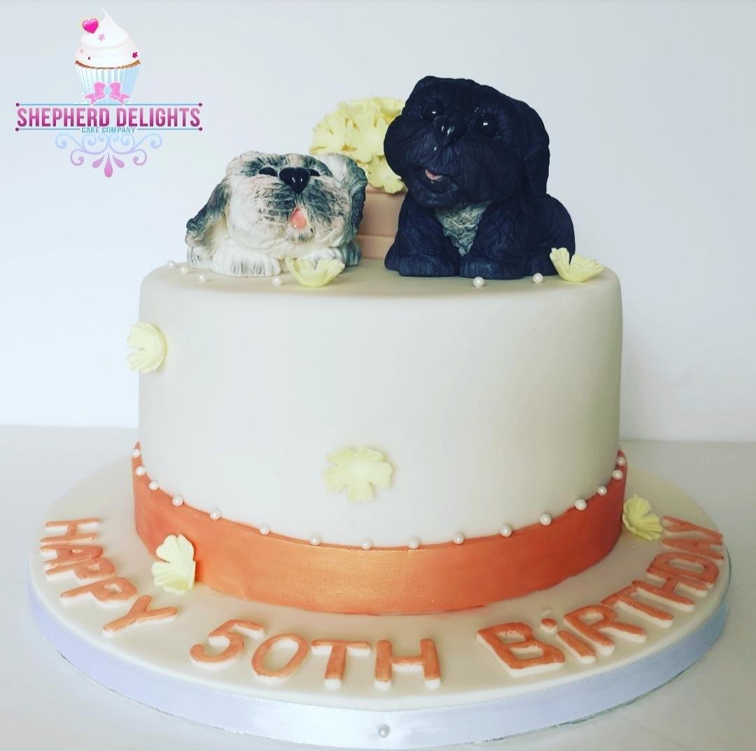 Personalised Dog Birthday Cake Cakes For Teens Adults