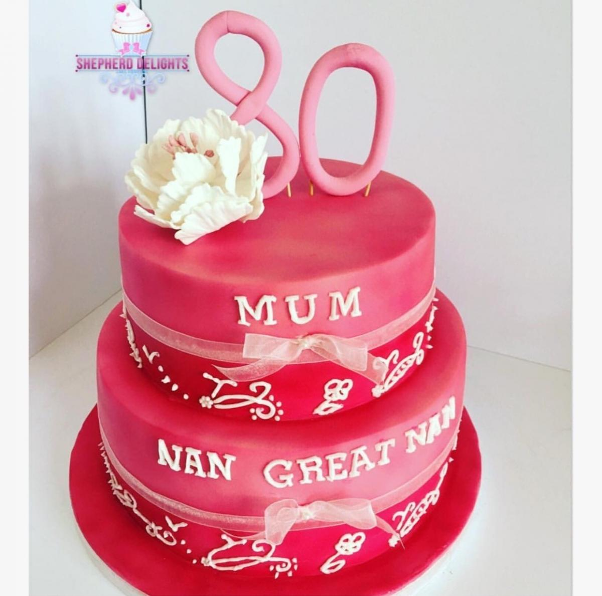 Cool Pink Two Tier Birthday Cake Teenage Adult Birthday Cakes Funny Birthday Cards Online Inifodamsfinfo