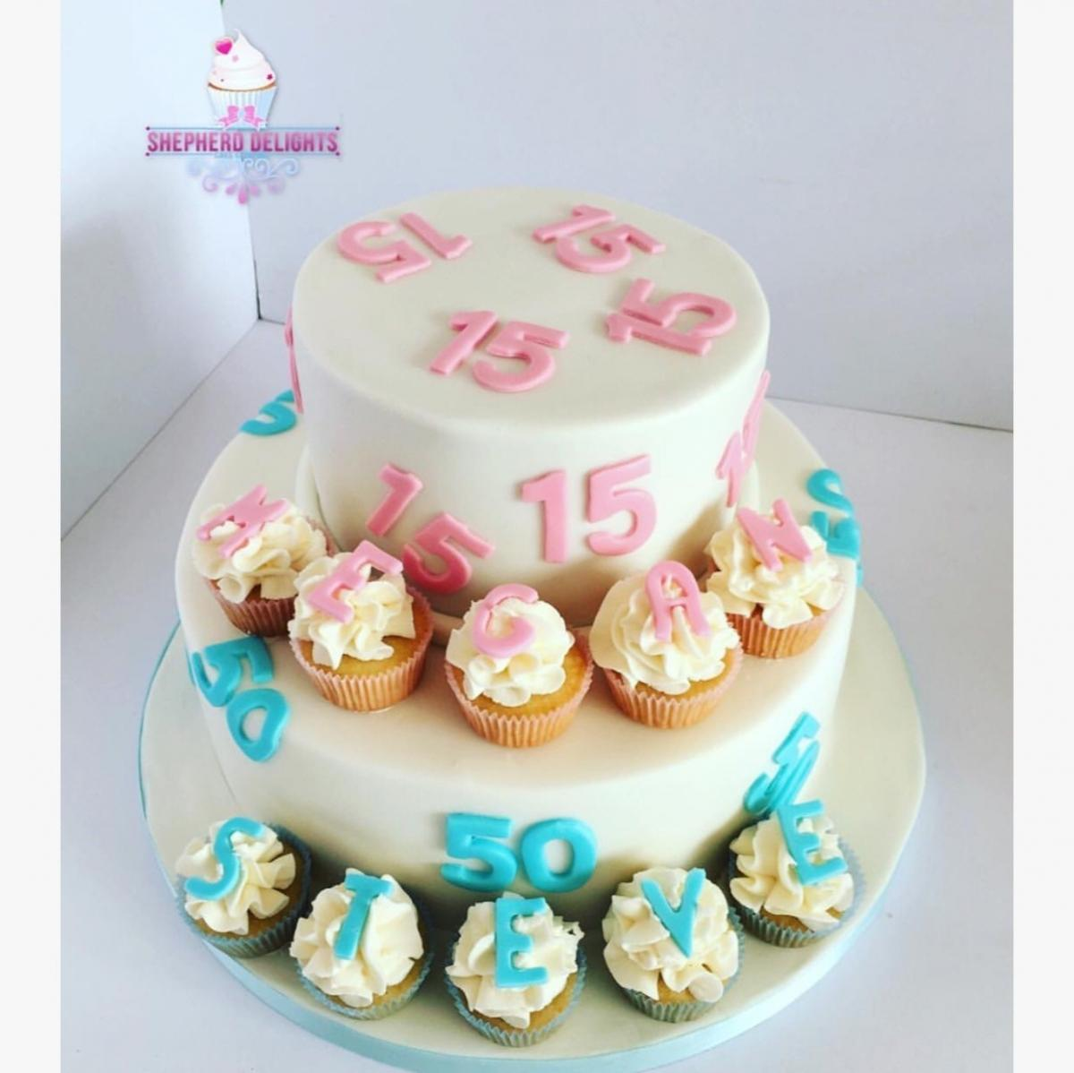 Groovy Simple Two Tier Cake Age Cake Teenage Adult Birthday Cakes Funny Birthday Cards Online Fluifree Goldxyz