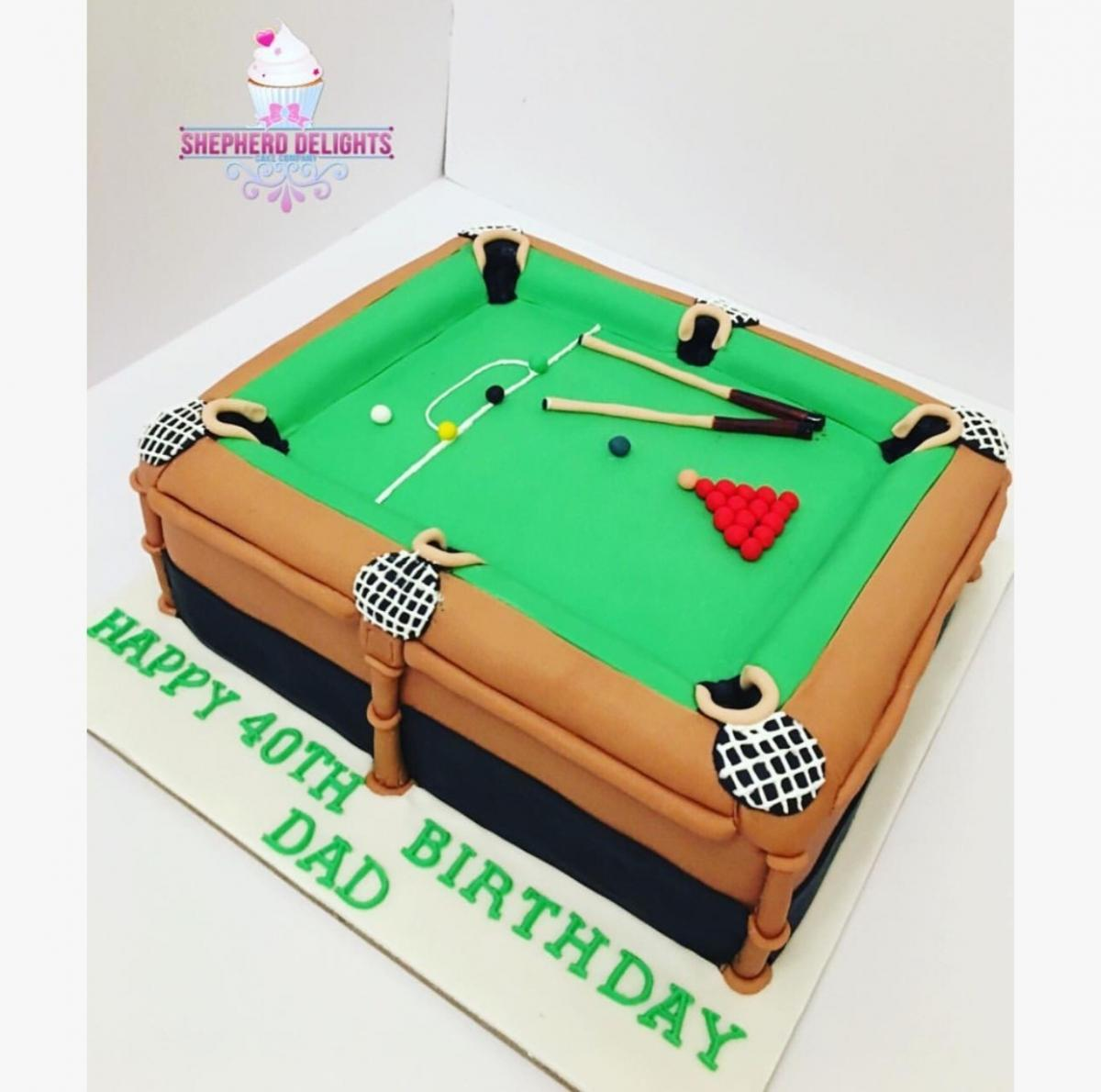 Amazing Snooker Table Birthday Cake Teenage Adult Birthday Cakes Personalised Birthday Cards Akebfashionlily Jamesorg