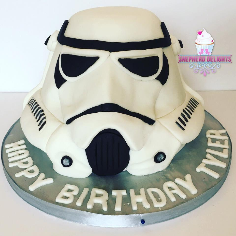 Tremendous Stormtrooper Birthday Cake Storm Trooper Cake Teenage Adult Birthday Cards Printable Opercafe Filternl
