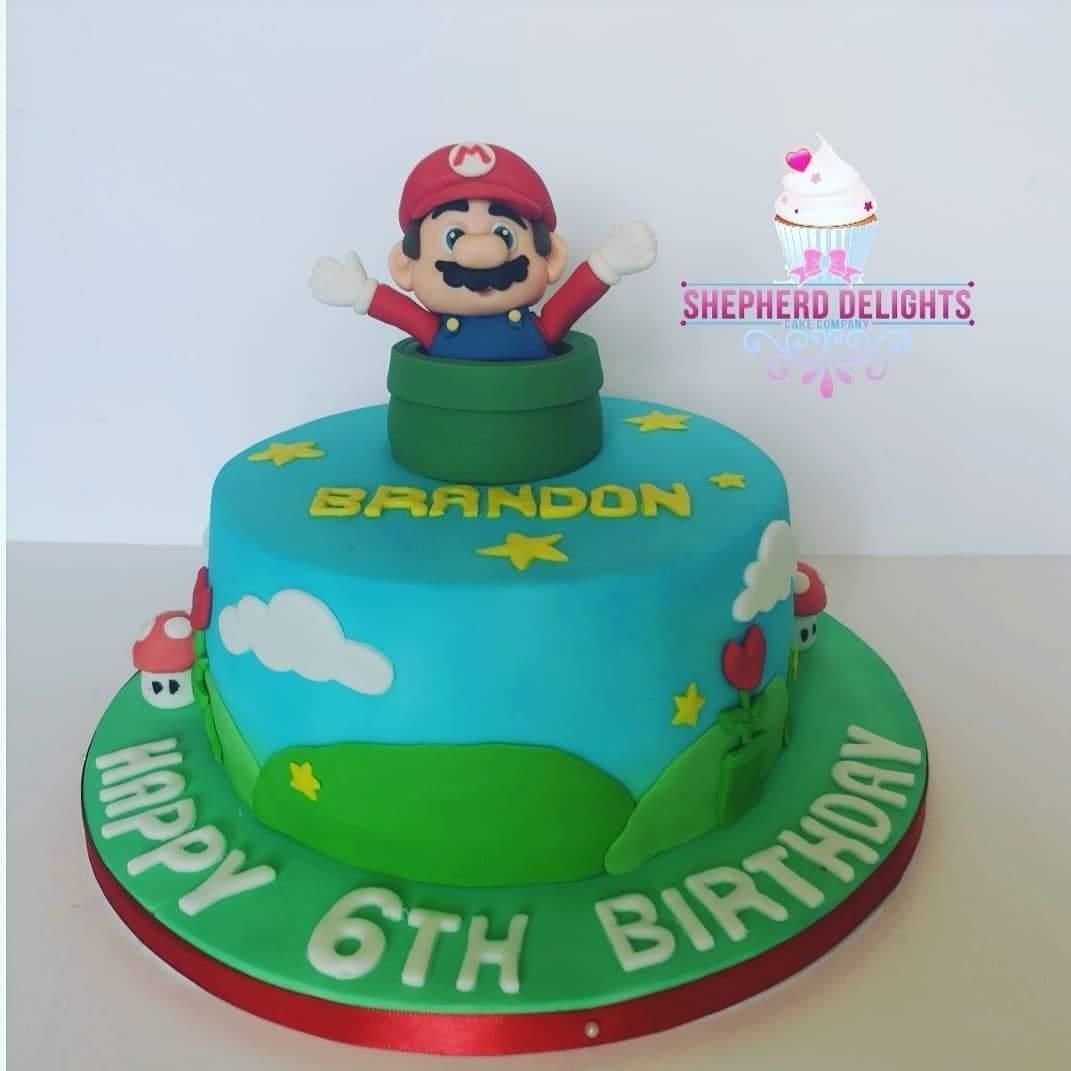 Groovy Super Mario Birthday Cake Birthday Cakes Personalised Birthday Cards Veneteletsinfo