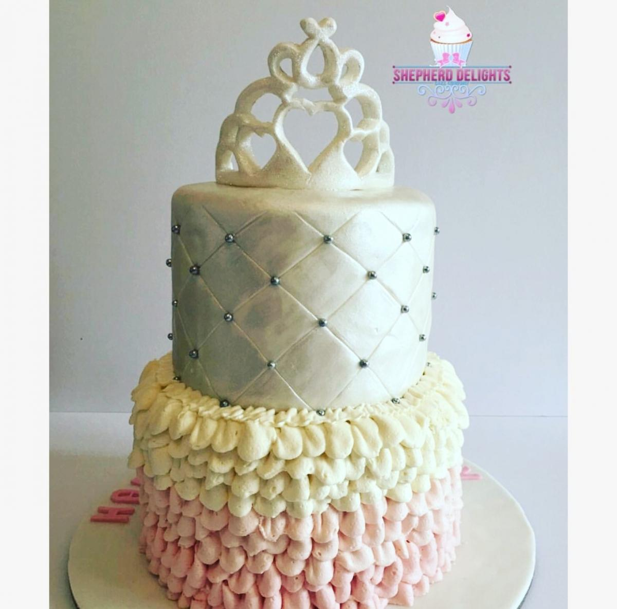 Two Tier Princess Cake Birthday Cakes Cakes For Children