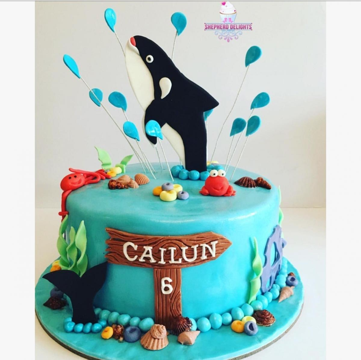 Awesome Under The Sea Birthday Cake Birthday Cakes Cakes For Children Funny Birthday Cards Online Eattedamsfinfo
