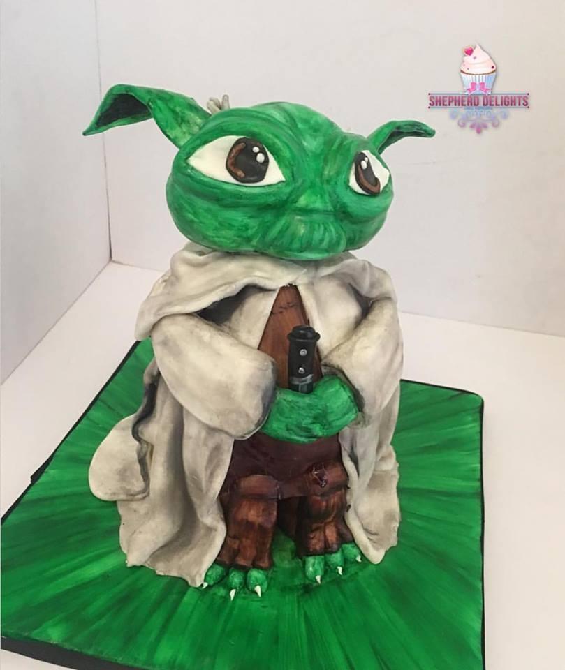 Yoda Birthday Cake Novelty Cakes Near Me Shepherd Delights
